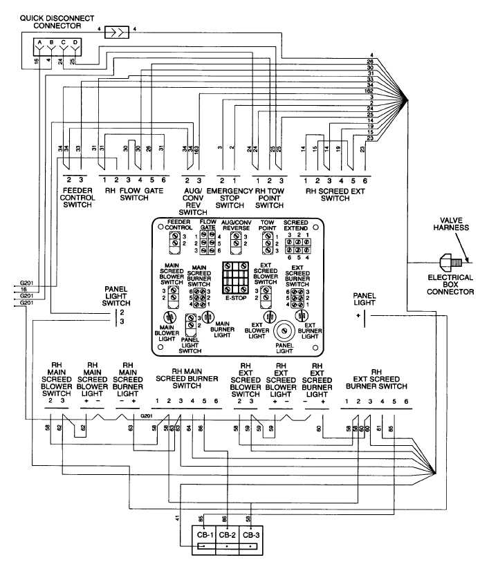 right hand screed control panel wiring diagram go control panel wiring diagram