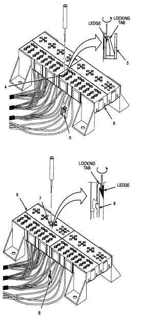 2  remove secondary locks from circuit breaker terminals